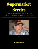 Cover for 'Supermarket Service - Simple Methods to Achieve Outstanding Service Success'