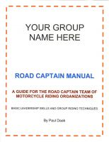 Cover for 'Road Captain Manual'