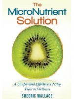 Cover for 'The Micronutrient Solution: A Simple and Effective 12-Step Plan to Wellness'