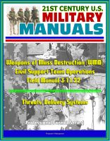 Cover for '21st Century U.S. Military Manuals: Weapons of Mass Destruction (WMD) Civil Support Team Operations - Field Manual 3-11.22 - Threats, Delivery Systems (Professional Format Series)'