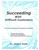 Cover for 'Succeeding with Difficult Customers'