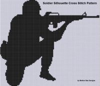 Cover for 'Soldier Silhouette Cross Stitch Pattern'