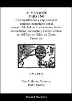 Cover for 'Almanaque para 1566 de Nostradamus'