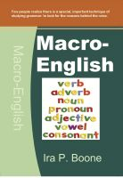 Cover for 'Macro-English'