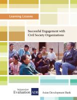 Cover for 'Successful Engagement with Civil Society Organizations'