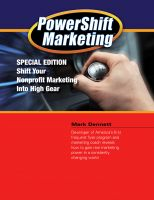 Cover for 'Powershift Marketing: Special Edition - Shift Your Nonprofit Marketing Into High Gear'