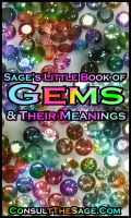 Cover for 'Sage's Little Book of Gemstones & Their Meanings'
