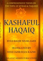Cover for 'Kashaful Haqaiq'