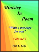 Cover for 'Ministry in Poem Vol 9'