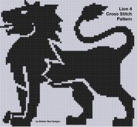 Cover for 'Lion 4 Cross Stitch Pattern'
