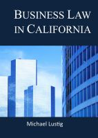 Cover for 'Business Law in California'