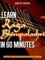 Cover for 'Learn Raga Bhimpalashri in 60 Minutes (Exotic Guitar Scales for Solo Guitar)'