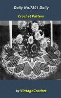 Cover for 'Doily No.7801 Vintage Crochet Pattern'