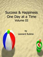 Cover for 'Success and Happiness, One Day at a Time. Volume III'