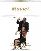 Cover for 'Minuet Pure sheet music duet for French horn and bassoon arranged by Lars Christian Lundholm'
