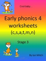 Cover for 'Early Phonics 4 Worksheets  (c,s,a,t,m,n)'