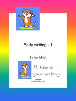Cover for 'Early Writing -1'