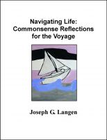 Cover for 'Navigating Life: Commonsense-Reflections for the Voyage'