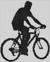 Cover for 'Mountain Bike Boy Cross Stitch Pattern'