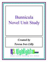 Cover for 'Bunnicula Novel Unit Study'