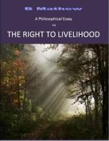 Cover for 'A Philosophical Essay on THE RIGHT TO LIVELIHOOD'