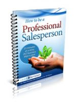 Cover for 'How to be a Professional Salesperson'