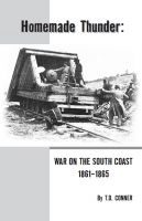 Cover for 'Homemade Thunder: War on the South Coast 1861-1865'