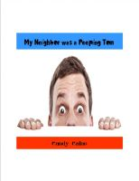 Cover for 'My Neighbor Was a Peeping Tom'
