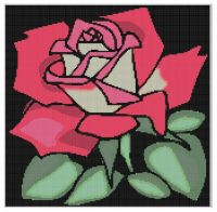 Cover for 'Rose Cross Stitch Pattern'