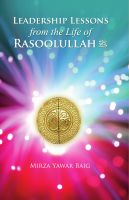 Cover for 'Leadership Lessons from the Life of Rasoolullah (SAW)'
