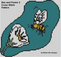 Cover for 'Bee and Flower 2 Cross Stitch Pattern'