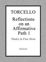 Cover for 'TORCELLO: Reflections on an Affirmative Path 1'