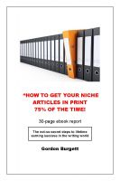 Cover for 'How to Get Your Niche Article in Print 75% of the Time'