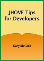 Cover for 'JHOVE Tips for Developers'