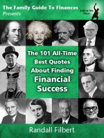 Cover for 'The 101 All-Time Best Quotes About Finding Financial Success'