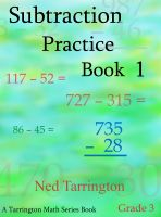 Cover for 'Subtraction Practice Book 1, Grade 3'