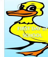 Cover for 'Elliot the Duck First Day of School'