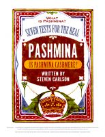 Cover for 'What is Pashmina? Seven Tests for the Real Pashmina'
