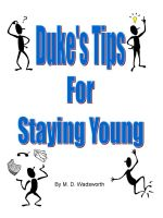 Cover for 'Duke's Tips For Staying Young'