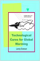 Cover for 'Technological Cures for Global Warming'