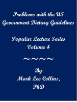 Cover for 'Problems with the US Government Dietary Guidelines'
