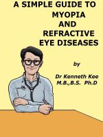 Cover for 'A Simple Guide to Myopia and Refractive Eye Diseases'