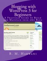 Cover for 'Blogging with WordPress 3 for Beginners'