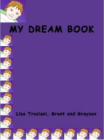 Cover for 'My Dream Book, for grandma and grandpa'