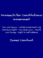 Cover for 'Prospects for Constitutional Government'