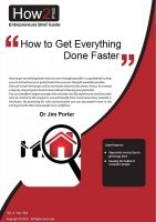 Cover for 'How to Get Everything Done Faster'
