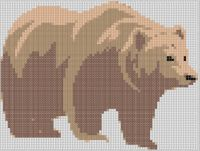 Cover for 'Brown Bear Cross Stitch Pattern'