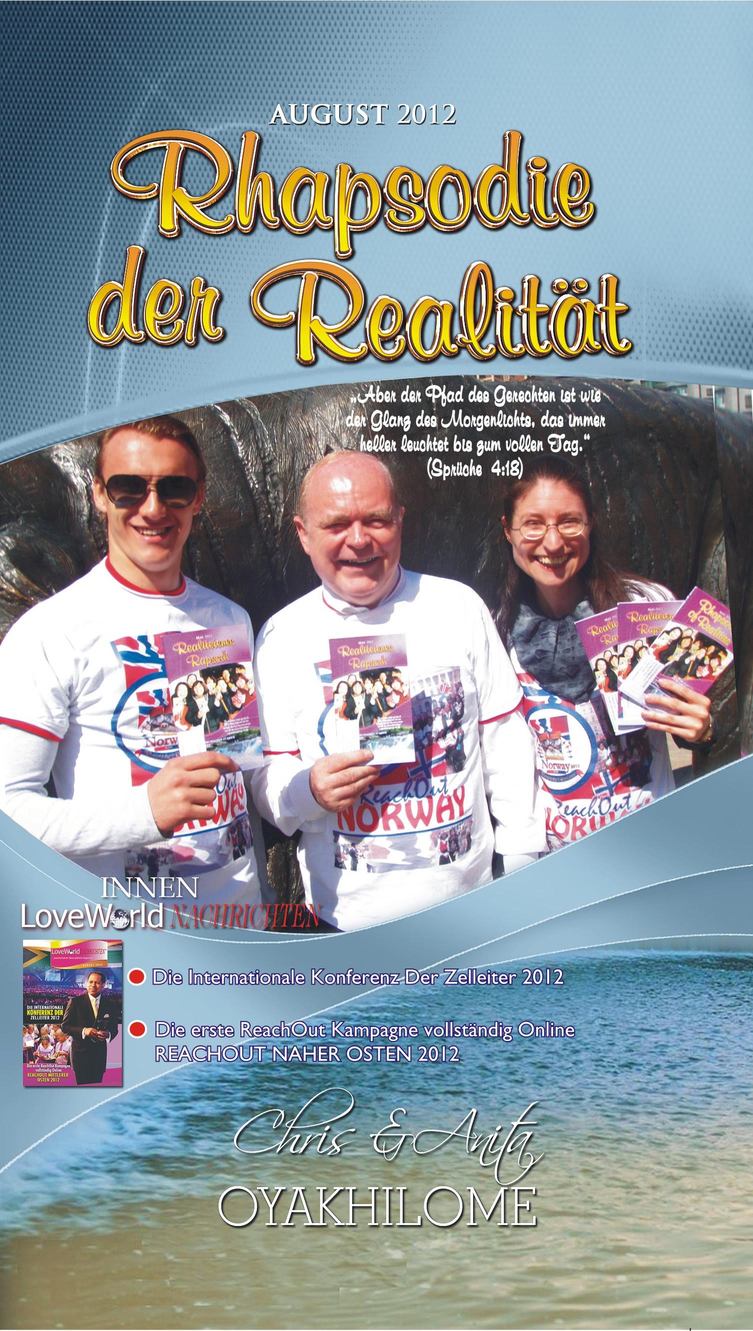 Pastor Chris and Anita Oyakhilome - Rhapsody Of Realities August 2012 German Edition