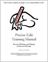 Cover for 'Precise Edit Training Manual'