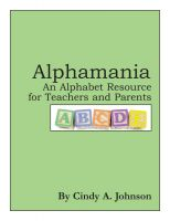 Cover for 'Alphamania: An Alphabet Resource for Teachers and Parents'